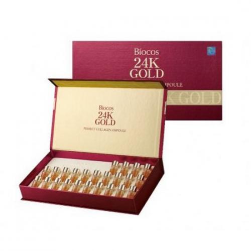 Set 24 Lọ Tinh Chất Vàng Coréana Biocos 24K Gold Perfect Collagen Ampoule