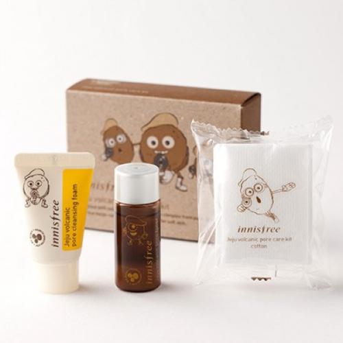 Bộ Dưỡng Da Dùng Thử Đặc Trị Mụn Đầu Đen Innisfree Jeju Volcanic Pore Care Kit (3 sản phẩm)