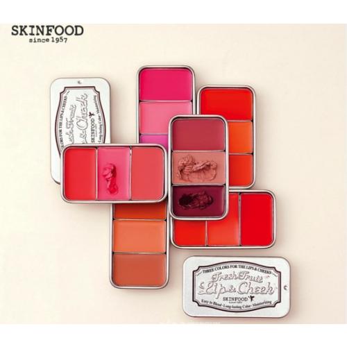 Son Dưỡng Môi, Phấn Mắt Và Má Hồng Skinfood Three Colors Fresh Fruit Lip & Cheek (3 Màu)