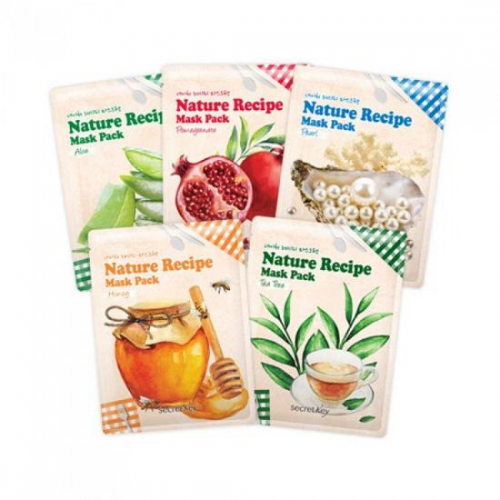 [BIG SALES] Mặt Nạ Dưỡng Da Secret Key Nature Recipe Mask Pack
