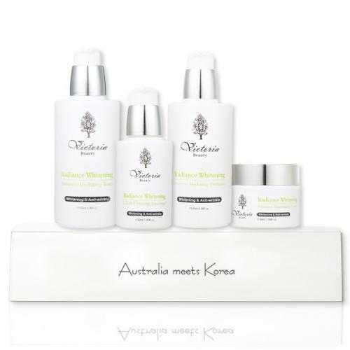 Bộ Dưỡng Trắng Da Và Chống Lão Hoá Cao Cấp Victoria Beauty Radiance Whitening Intensive Illuminating Set
