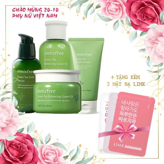 Combo Lời Chào Thanh Xuân + Tặng Kèm 03 Mặt Nạ Pink Recovery Mask Bright Solution