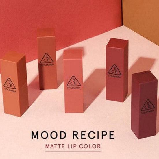 Son Lì Tuyệt Sắc 2017 3CE Mood Recipe Matte Lip Color