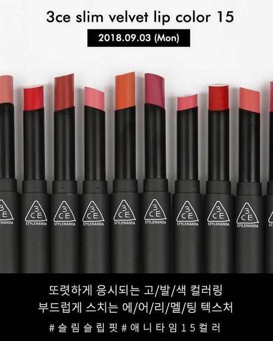 [BEST SELLER] Son Thỏi Lì Mềm Mịn 3CE Slim Velvet Lip Color 3.2g