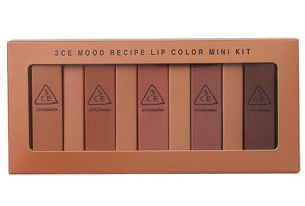 [BIG SALES] Bộ Son Lì Tuyệt Sắc 3CE Mood Recipe Matte Lip Color Mini Kit (5 cây)