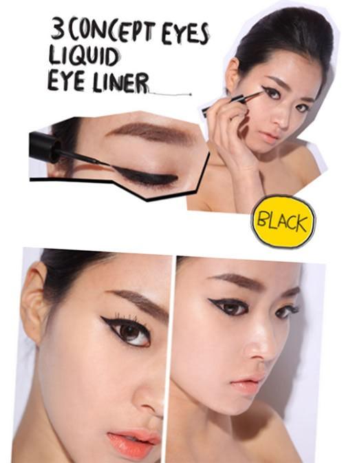 Kẻ Mắt Nước Không Lem 3CE STYLENANDA LIQUID EYE LINER - Màu Đen (Black)