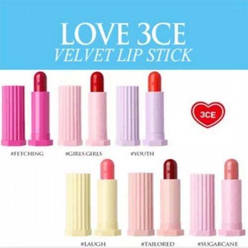 Son Lì Dạng Thỏi Siêu Đẹp Love 3CE Velvet Lip Stick