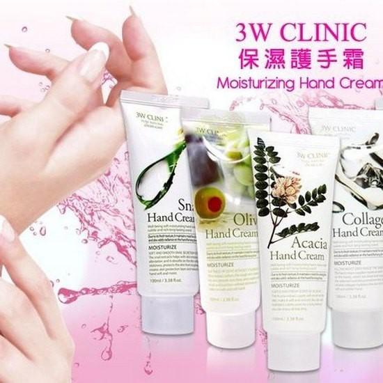 Kem Dưỡng Da Tay 3W Clinic Moisturizing Hand Cream