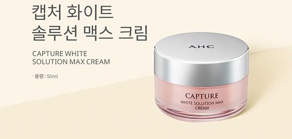 Kem Dưỡng Cải Thiện Tông Da Trắng Sáng Chiết Xuất Từ Thảo Mộc Thiên Nhiên AHC Capture White Solution Max Cream 50ml