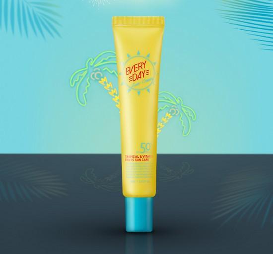 Kem Chống Nắng Hàng Ngày Apieu Everyday Sun Cream Tropical & Vitamin Fruits Sun Care SPA50+ PA++++