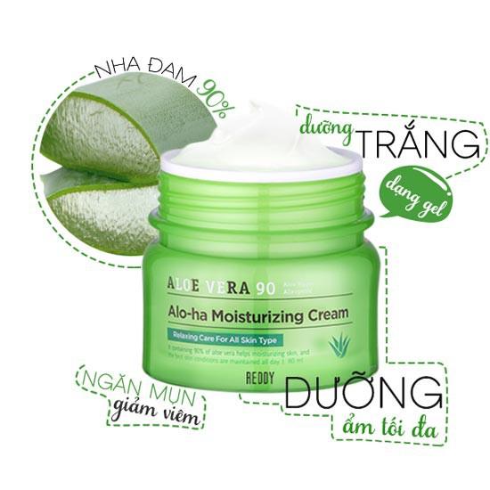 Kem Dưỡng Trắng Sáng Da Chiết Xuất Lô Hội Aloe Vera Alo-Ha Moisturizing Cream 80ml