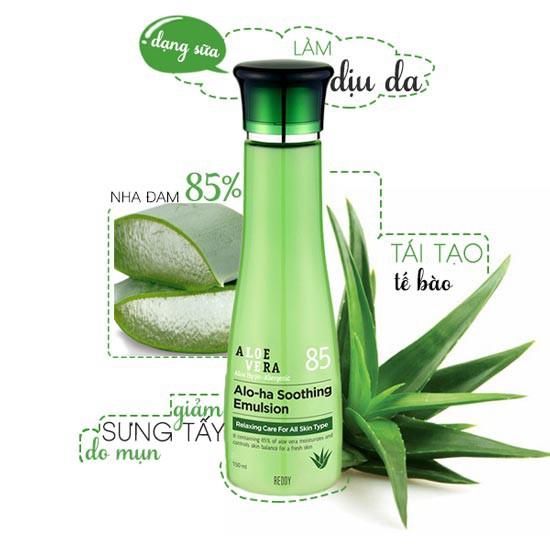 Sữa Dưỡng Trắng Sáng Da Chiết Xuất Lô Hội Aloe Vera 85 Alo-Ha Soothing Emulsion 150ml