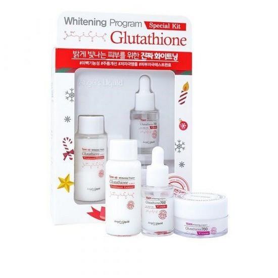 [HOT] Bộ Dưỡng Trắng Da, Mờ Thâm Nám Chỉ Sau 7 Ngày Angel's Liquid Whitening Program Glutathione Special Kit