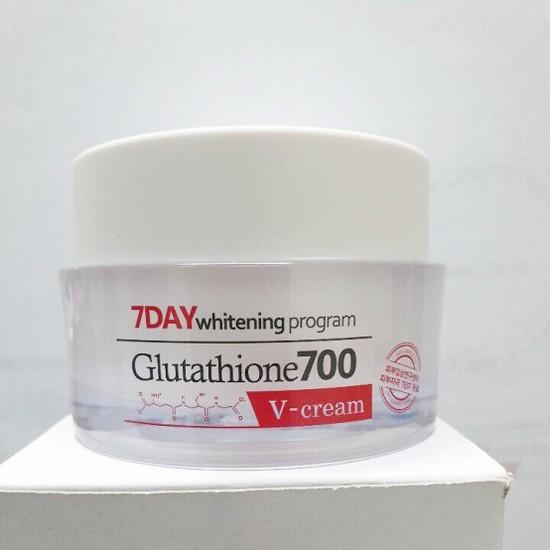 [BIG SALES] Kem Dưỡng Trắng Da 7Day Whitening Program Glutathione 700 V-Cream