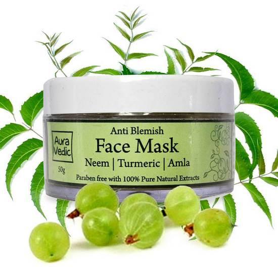 Mặt Nạ Trị Mụn Ẩn Aura Vedic Anti Blemish Mask 50g