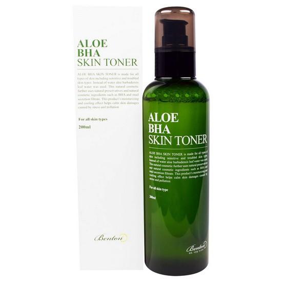 Nước Hoa Hồng Trị Mụn Và Se Khít Lỗ Chân Lông Chiết Xuất Lô Hội Benton Aloe Bha Skin Toner 200ml