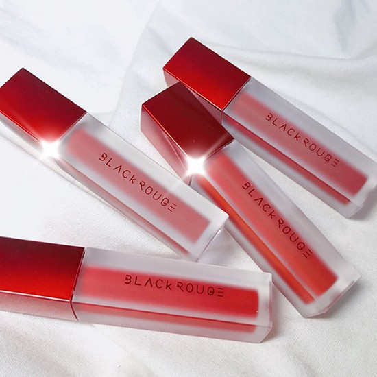 review bảng màu son kem lì black rouge air fit velvet tint