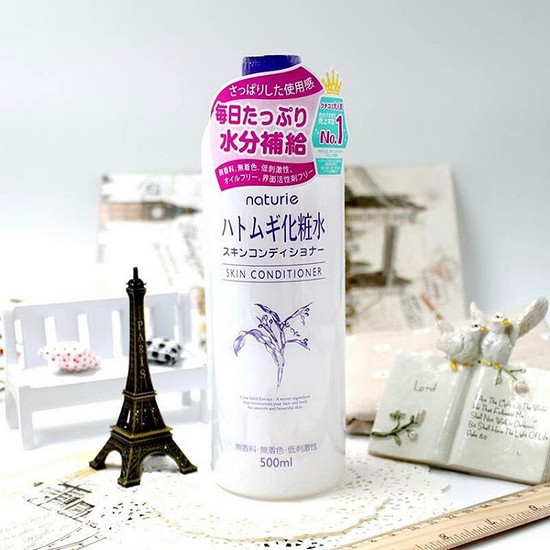 review lotion dưỡng da đa năng naturie hatomugi skin conditioner
