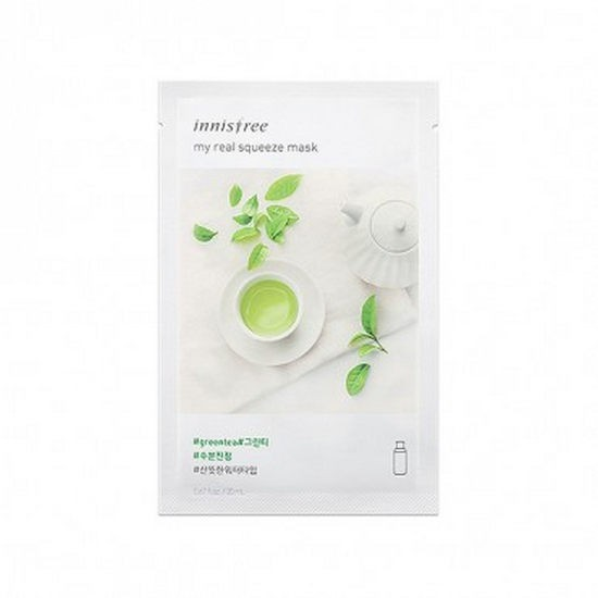 Review Mặt Nạ Giấy Innisfree It's Real Squeeze Mask Green Tea