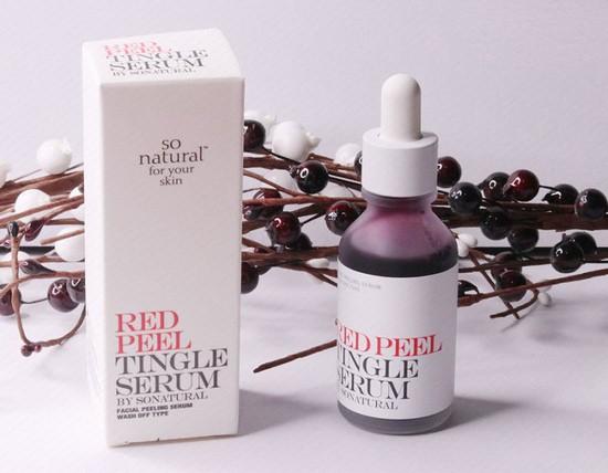 review tinh chất tái tạo da so natural red peel tingle serum