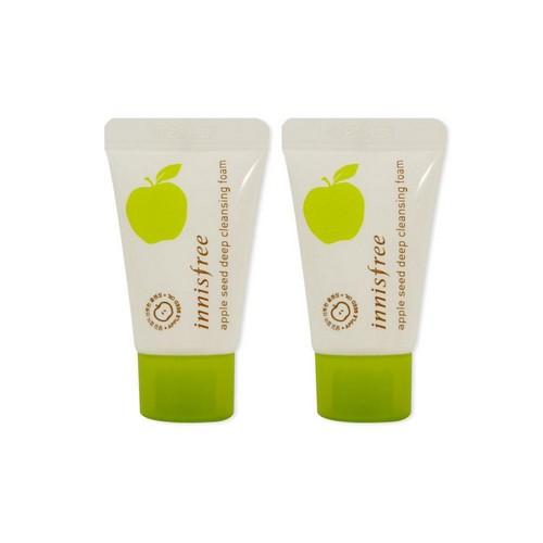 review sữa rửa mặt innisfree apple seed deep cleansing foam