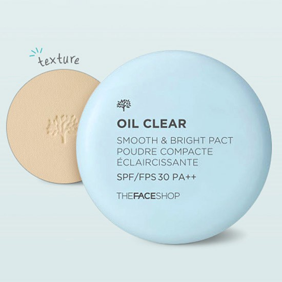 Phấn Phủ Nén Kiềm Dầu The Face Shop Oil Clear Smooth & Bright Pact SPF30/PA++ 9g