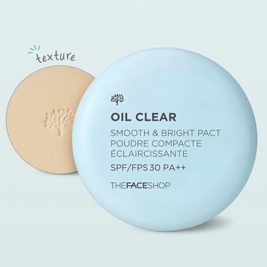 Phấn Phủ Nén Kiềm Dầu The Face Shop Oil Clear Smooth & Bright Pact SPF30/PA++ 9g
