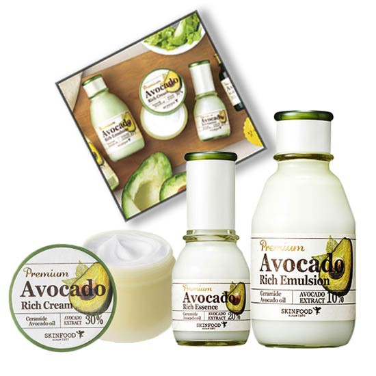 [BIG SALE] Bộ Dưỡng Dưỡng Ẩm Chiết Xuất Bơ Skinfood Premium Avocado Rich