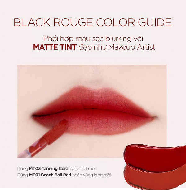 [HOT] Son Kem Lì Mềm Mịn Môi Black Rouge All Day Power Proof Matte Tint