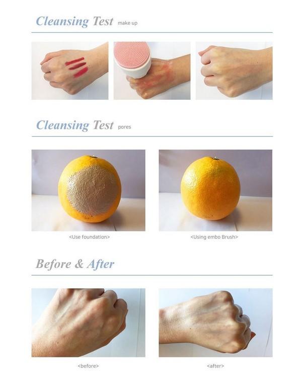 Cọ Rửa Mặt Matxa 2 Đầu BuEno Pore Cleansing Embo Brush