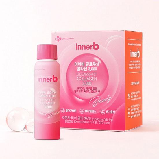Nước Uống Collagen Làm Đẹp Da InnerB GlowShot Collagen 3000 (Hộp 6 Chai x 50ml)