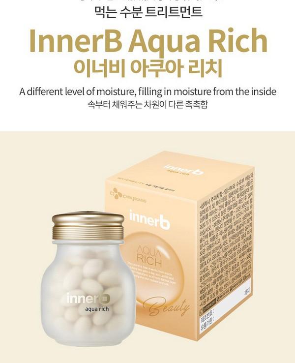 [BIG SALES] Viên Uống Cấp Nước Và Bổ Sung Collagen Cheiljedang Innerb Aqua Rich 70 Viên