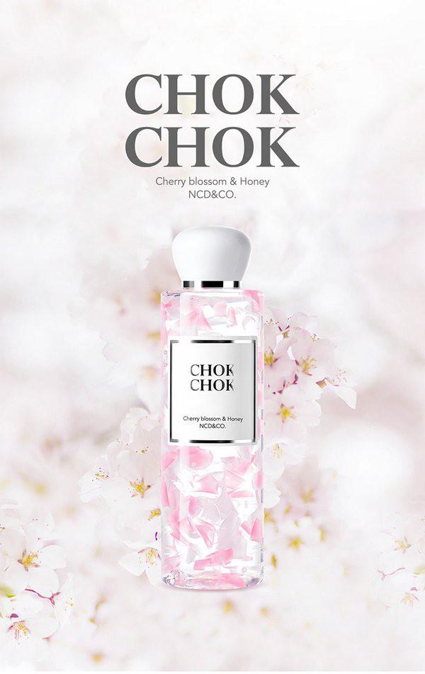Sữa Tắm Dưỡng Da Trắng Sáng Mịn Màng Chok Chok Silk Cherry Bloosom & Honey Body Cleanser