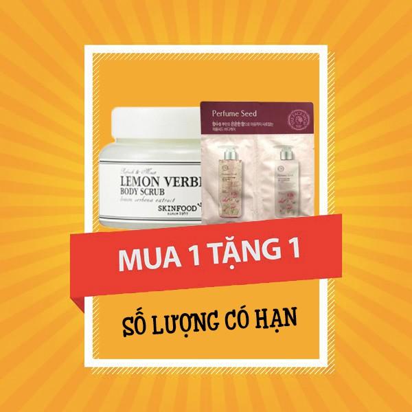 [BIG SALES] Tẩy Da Chết Skinfood Lemon Verbena Body Scrub 320g (Tặng Sample Sữa Tắm Nước Hoa)