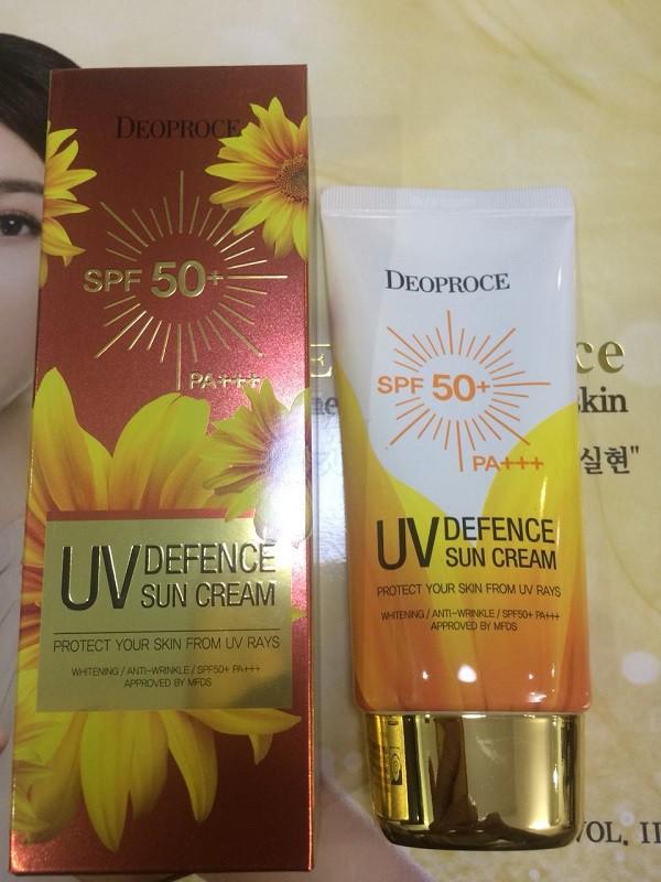 Kem Chống Nắng Tăng Cường Dưỡng Ẩm Deoproce UV Defence Sun Cream SPF50+/PA+++ 70g