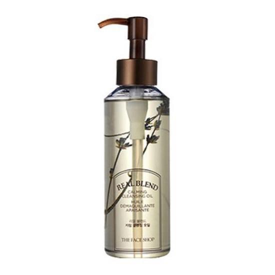 Dầu Tẩy Trang Dịu Nhẹ The Face Shop Real Blend Calming Cleansing Oil 225ml