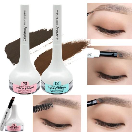 Gel Kẻ Mày Siêu Bền Màu Chống Thấm Nước Dearmay Fixtay Gel Eyebrow 3.6g