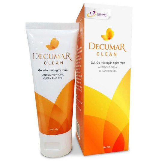 Gel Rửa Mặt Ngừa Mụn Decumar Clean Antiacne Facial Cleansing Gel 50g