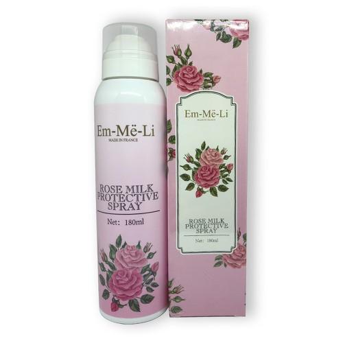 Xịt Dưỡng Trắng Da Em-Me-Li Rose Milk Protective Spray 180ml