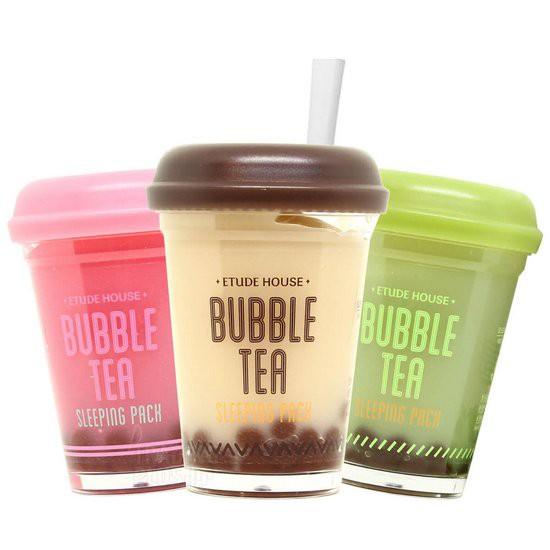 Mặt Nạ Ngủ Trà Sữa Trân Châu Etude House Bubble Tea Sleeping Pack 100g