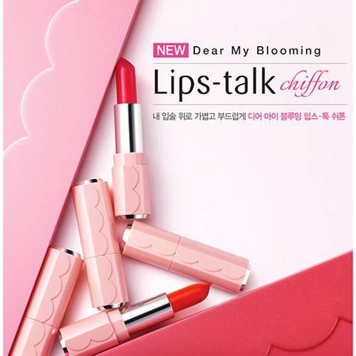 [BIG SALES] Son Thỏi Lâu Trôi Siêu Mịn Môi Etude Dear My Blooming Lips Talk Chiffon (Mới)