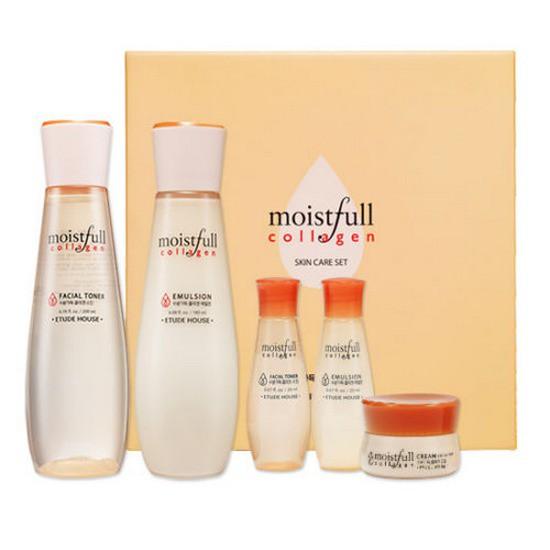 Bộ Dưỡng Ẩm Da Etude House Moistfull Collagen Skin Care Set (5 Sản Phẩm)