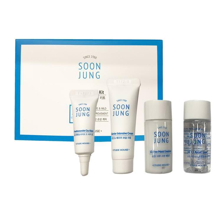 Bộ Dưỡng Dùng Thử Cho Da Mụn Etude House Soon Jung Skin Care Trial Kit