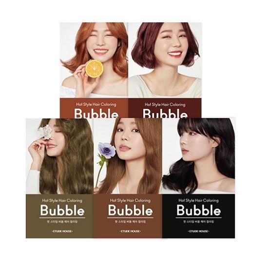 Dầu Gội Nhuộm Tóc Nhanh Với Nhiều Gam Màu Thời Thượng Etude house Hot Style Hair Color Bubble