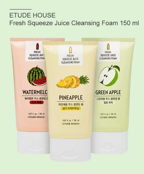 Sữa Rửa Mặt Hương Trái Cây Etude House Fresh Squeeze Juice Cleansing Foam 150ml
