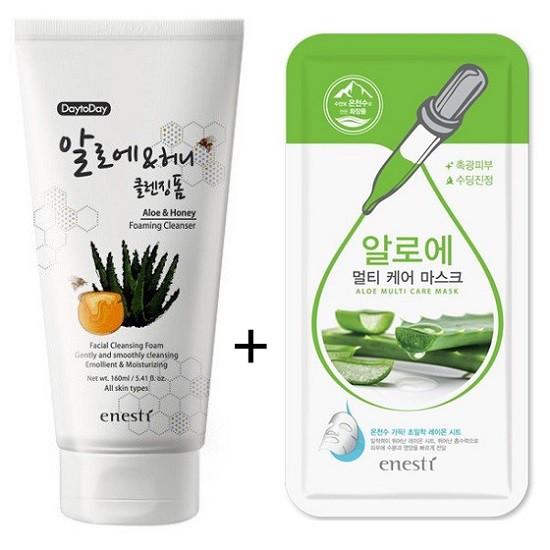 Sữa Rửa Mặt Làm Sạch Và Giữ Ẩm Cho Da Từ Lô Hội Và Mật Ong Enesti Daytoday Aloe And Honey Foaming Cleanser 160ml