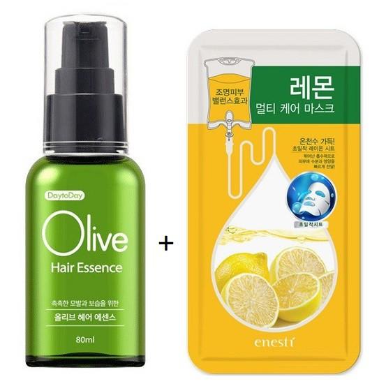 Tinh Chất Dưỡng Tóc Oliu Enesti Daytoday Olive Hair Essence 80ml (Tặng Kèm Mặt Nạ)