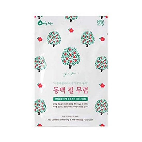 Combo 10 Mặt Nạ Ngăn Ngừa Nếp Nhăn Từ Tinh Chất Hoa Trà Đỏ Epona Jeju Camellia Whitening & Anti-Wrinkle Face Mask