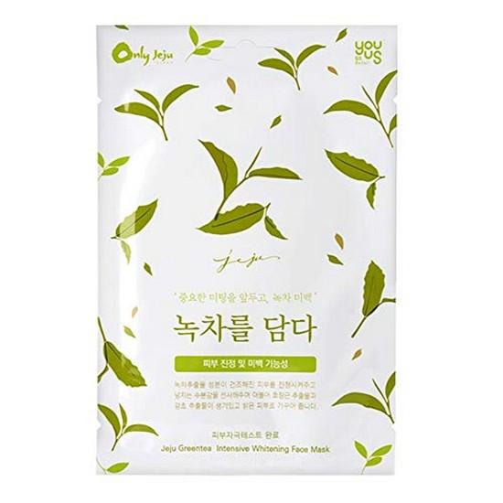 Combo 10 Mặt Nạ Dưỡng Trắng Chuyên Sâu Trà Xanh Epona Jeju Greentea Intensive Whitening Face Mask