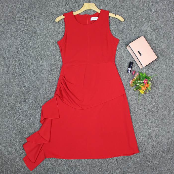 Đầm Xòe Bèo Nhún Eo